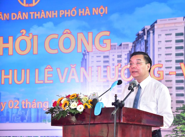 Hà Nội khởi công hầm chui gần 700 tỷ qua nút giao Lê Văn Lương - Vành đai 3 - 1