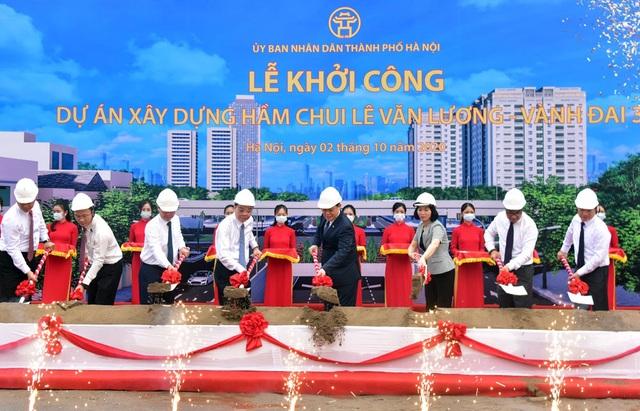 Hà Nội khởi công hầm chui gần 700 tỷ qua nút giao Lê Văn Lương - Vành đai 3 - 2