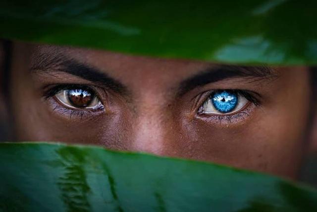 Kỳ lạ bộ tộc có đôi mắt xanh cực hiếm ở Indonesia - 1