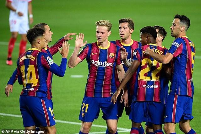 Messi nhạt nhòa, Barcelona đứt mạch toàn thắng ở La Liga - 6
