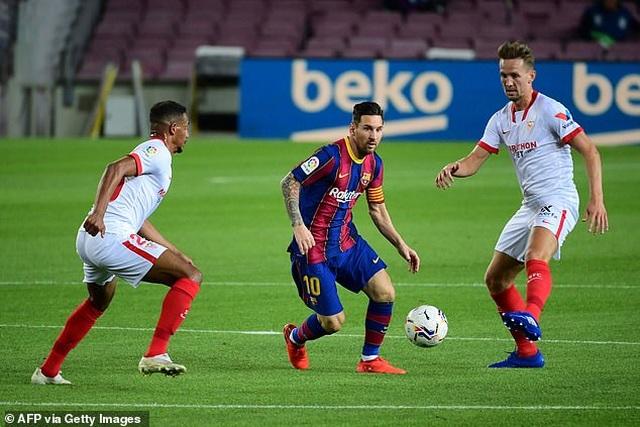 Messi nhạt nhòa, Barcelona đứt mạch toàn thắng ở La Liga - 8