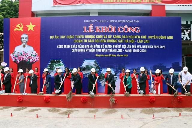 Hà Nội khởi công nhóm dự án hơn 1.000 tỷ đồng tại Đông Anh - 1