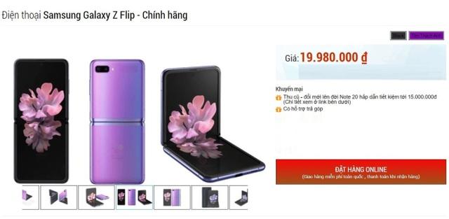 Nhiều hệ thống bán lẻ xả hàng Galaxy Z Flip, giá giảm gần một nửa - 1