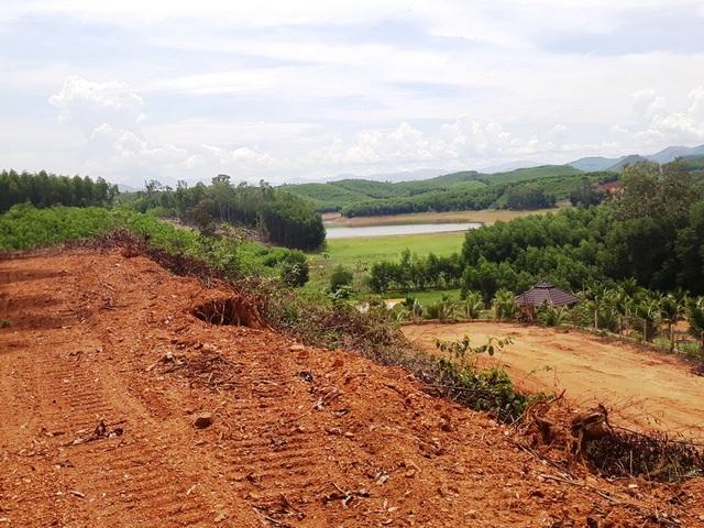 Bình Định: Tự ý san ủi, mở đường đe doạ hồ thủy lợi, người dân hoang mang - 1