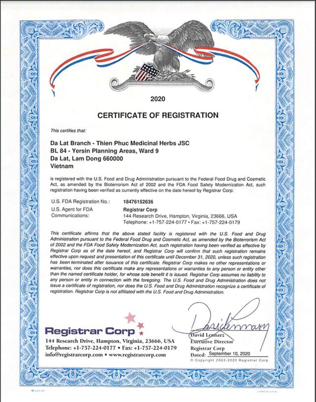 Thêm một công ty dược của Việt Nam được cấp giấy chứng nhận FDA của Mỹ - 1