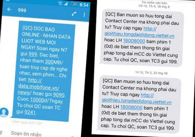 Hướng dẫn thuê bao di động đăng ký từ chối cuộc gọi, tin nhắn quảng cáo rác - 1