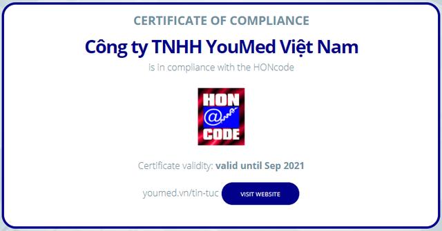 Trang tin Y tế YouMed đạt chứng nhận HONcode - 2