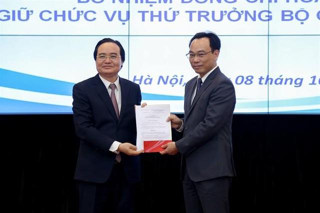 Tân Thứ trưởng Hoàng Minh Sơn chính thức nhận nhiệm vụ tại Bộ GDĐT - 1