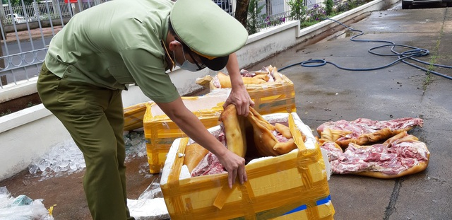 Tuồn gần 3 tạ thịt lợn thối từ Quảng Ngãi vào Đắk Lắk tiêu thụ - 2