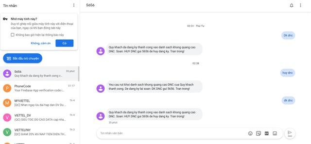 Thủ thuật giúp gửi và đọc tin nhắn trên smartphone trực tiếp từ máy tính - 4