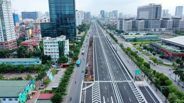 Cấm xe khách, xe tải, xe máy đi đường trên cao Mai Dịch - Nam Thăng Long - 1