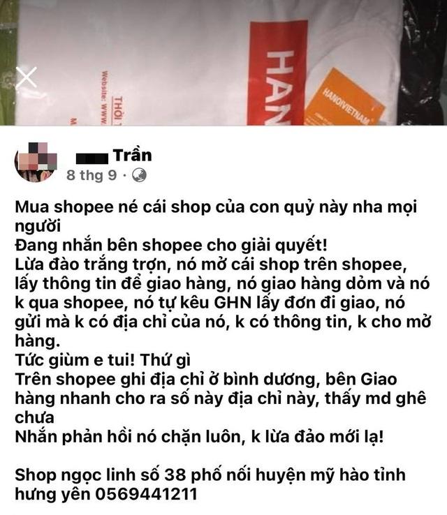 Mánh khóe lừa đảo mới trên Shopee: Mua quần áo tập nhận ba lỗ dởm - 2
