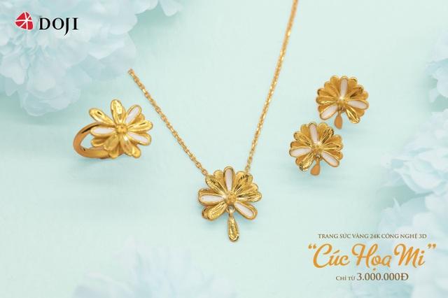 Hàng ngàn quà tặng hấp dẫn khi mua Trang sức Vàng 24K DOJI dịp 20/10 - 1