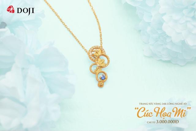Hàng ngàn quà tặng hấp dẫn khi mua Trang sức Vàng 24K DOJI dịp 20/10 - 2