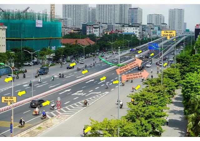 Cấm xe khách, xe tải, xe máy đi đường trên cao Mai Dịch - Nam Thăng Long - 2