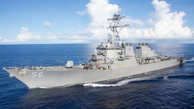 Tàu chiến Mỹ áp sát quần đảo Hoàng Sa - 1