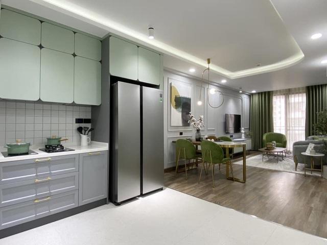 Độc đáo căn hộ màu xanh đẹp như tranh của vợ chồng trẻ Sài Gòn - 3