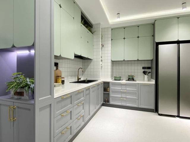 Độc đáo căn hộ màu xanh đẹp như tranh của vợ chồng trẻ Sài Gòn - 6