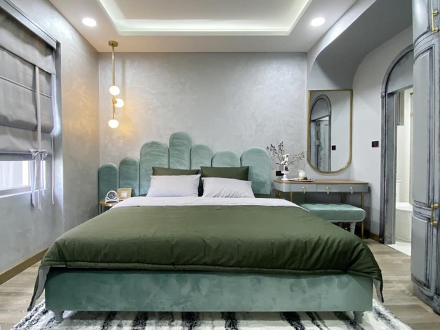 Độc đáo căn hộ màu xanh đẹp như tranh của vợ chồng trẻ Sài Gòn - 9