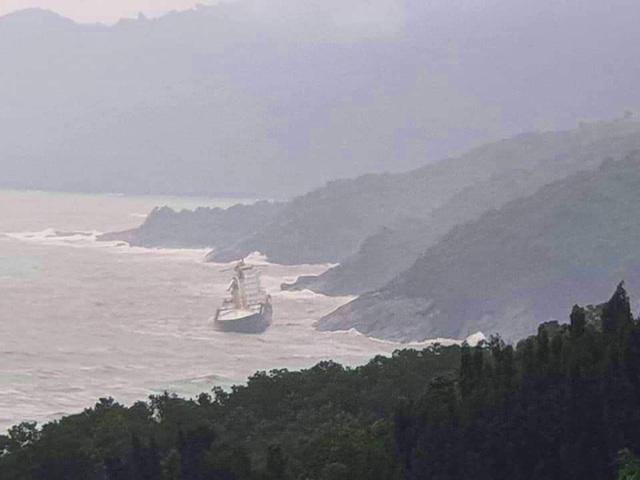 Tàu hàng lớn không người mắc cạn tại bờ biển - 1