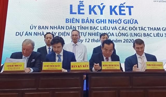Bạc Liêu và đối tác ký bản ghi nhớ thực hiện dự án nhiệt điện khí 4 tỷ USD - 1