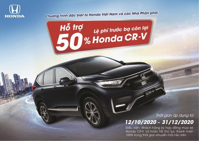 Hỗ trợ 50% lệ phí trước bạ còn lại cho khách hàng mua xe Honda CR-V - 1