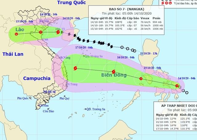 Chiều nay bão số 7 đi vào đất liền các tỉnh Thái Bình đến Nghệ An - 1