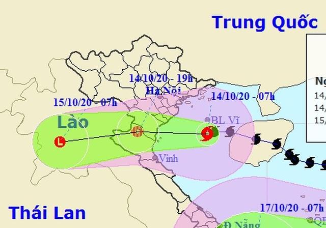 Bão số 7 vào vùng biển Thái Bình - Nghệ An, bắt đầu suy yếu - 1