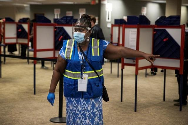 Bầu cử Mỹ 2020: Người Mỹ xếp hàng dài bỏ phiếu - 14