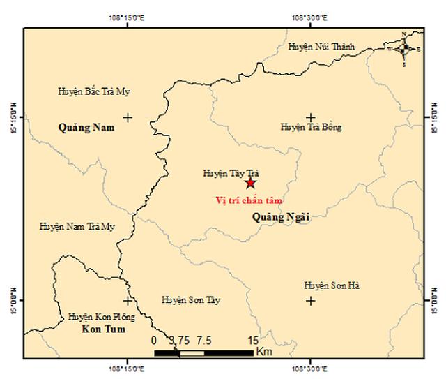 Quảng Ngãi: Một ngày xảy ra 4 trận động đất - 1