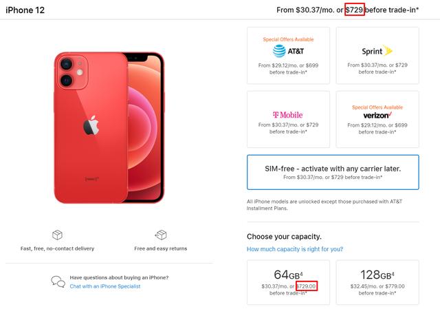 Apple gian lận giá iPhone 12 ngay trên trang chủ? - 3