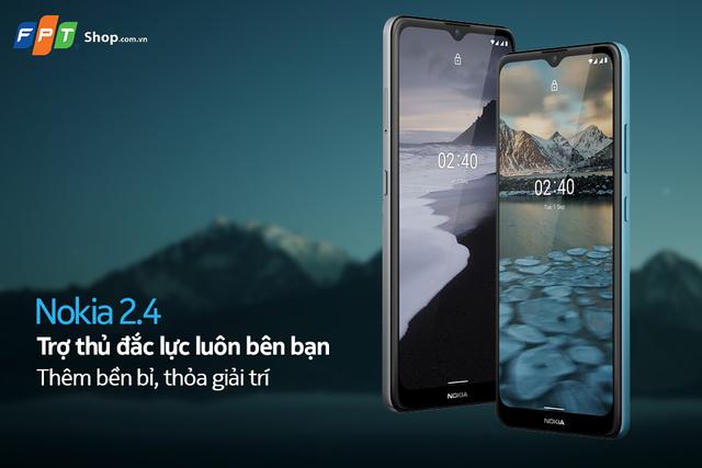 Nokia 2.4 giảm 200.000 đồng, trả góp 0% lãi suất tại FPT Shop - 1