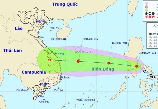 Áp thấp nhiệt đới khả năng mạnh thành bão sắp vào Biển Đông - 1