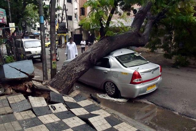 Khoảnh khắc lũ lụt cuốn người, xe cộ ở Ấn Độ - 4