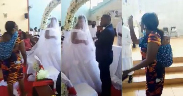 Vợ địu con đến phá đám cưới của chồng và nhân tình - 1