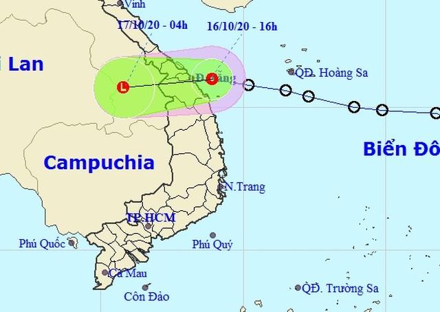 Áp thấp nhiệt đới đã vào vùng biển các tỉnh Đà Nẵng đến Quảng Ngãi - 1