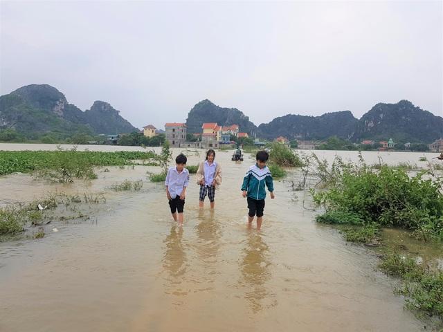 Ninh Bình: Nước lũ dâng nhanh, gần 300 học sinh phải nghỉ học - 2