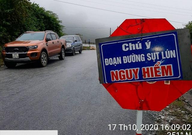 Sụt lún tại dốc nguy hiểm nhất tuyến đường miền Tây xứ Nghệ - 2