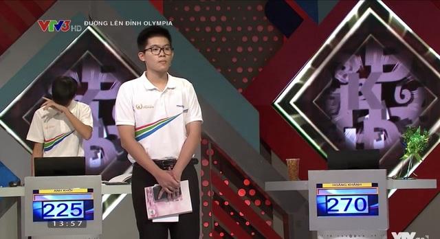 Chú Doraemon bé nhỏ chiến thắng ở cuộc thi Tháng đầu tiên Olympia 21 - 2
