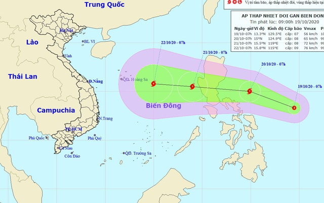Biển Đông lại chuẩn bị đón áp thấp nhiệt đới - 1
