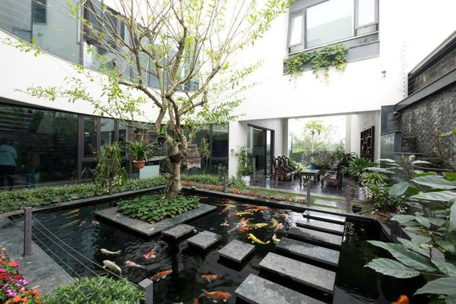 Biệt thự ở Hà Nội mát rượi quanh năm nhờ vườn cây phủ kín mặt tiền - 6