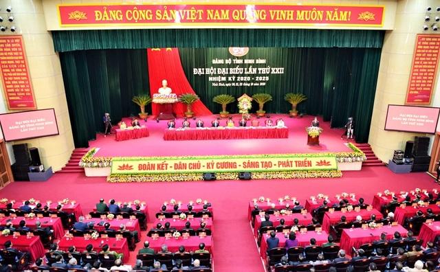 Khai mạc Đại hội Đảng bộ tỉnh Ninh Bình lần thứ XXII - 5