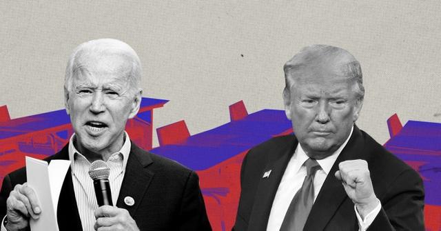"""Tranh luận Tổng thống Mỹ: Ông Trump nói tranh cử """"bởi vì Biden"""" - 1"""