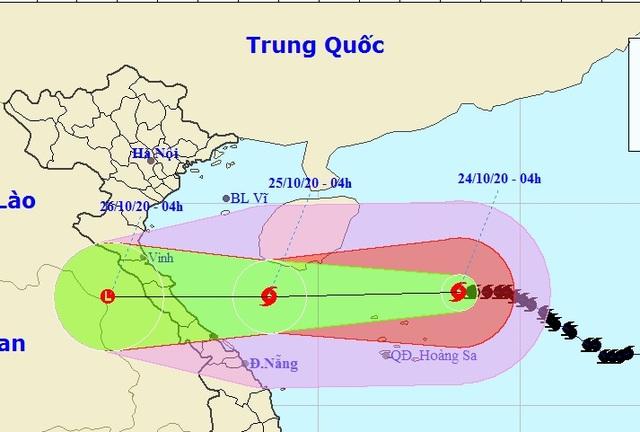 Bão số 8 bắt đầu giảm cường độ, các tỉnh Nghệ An đến Thừa Thiên Huế mưa to - 1