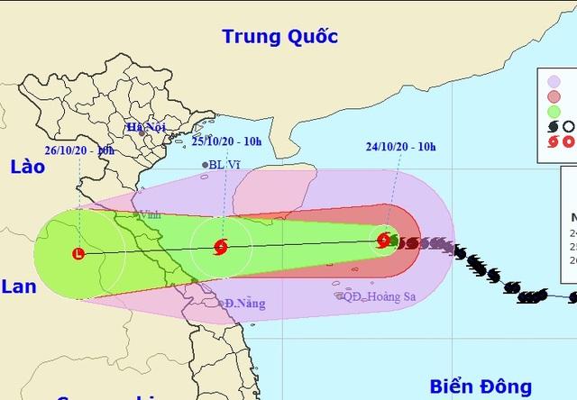 Bão số 8 giảm cường độ, hướng vào đất liền Hà Tĩnh đến Quảng Trị - 1