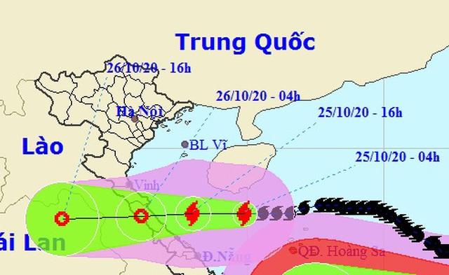 Bão số 8 đang tiến gần đất liền các tỉnh Hà Tĩnh đến Quảng Trị - 1