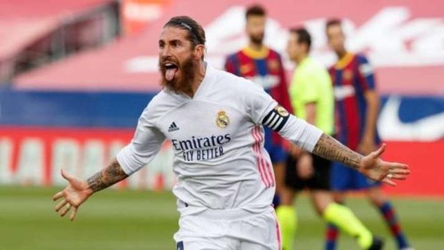 Sergio Ramos nói gì về pha ngã bất thường trước Barcelona? - 2