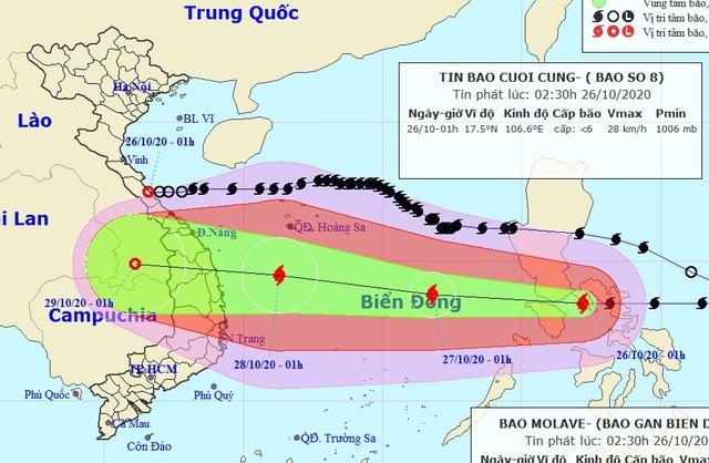Bão số 8 tan, bão Molave giật cấp 14 sắp vào Biển Đông - 1