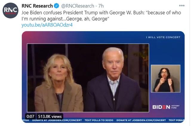 Ông Biden bị nghi nhầm lẫn tên ông Trump - 2