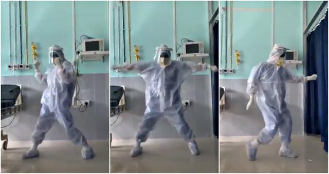 Cực hot video bác sĩ Ấn Độ nhảy múa cho bệnh nhân Covid-19 bớt sợ - 1